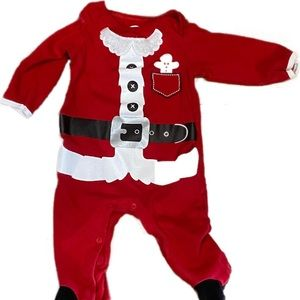 Other - Baby Santa Suit Footed Pajamas